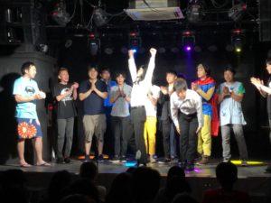 名古屋のお笑いライブ結果発表シーン、どっかんプロ